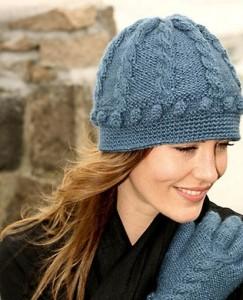 Связать шапку женскую спицами