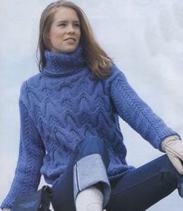 Как связать свитер спицами для начинающих