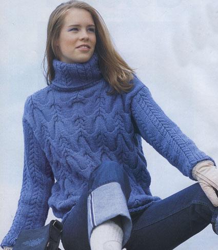 Как связать свитер спицами для