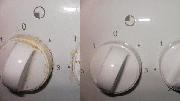 Как почистить плиту.